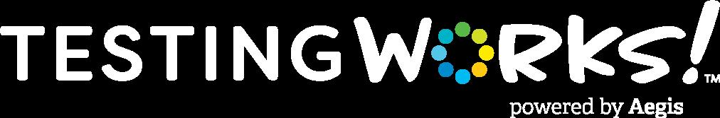 TestingWorks! Powered By Aegis Logo